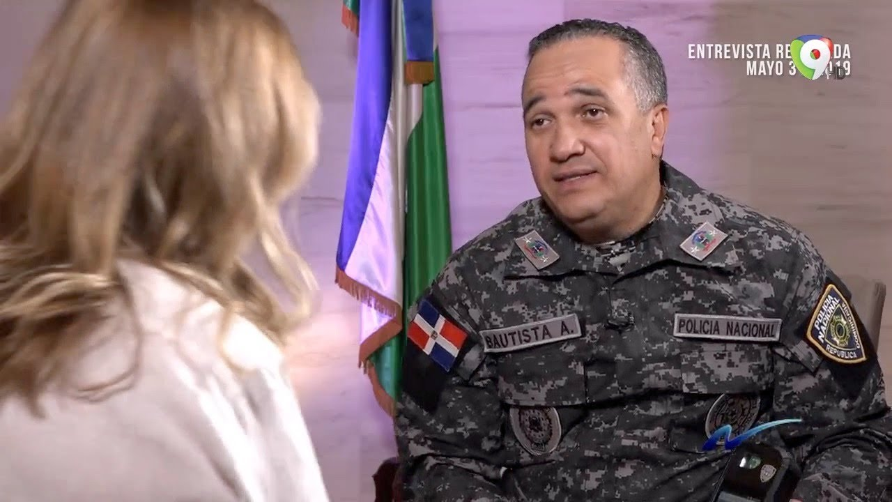 Entrevista Ney Aldrin Bautista, Director de la Policia Nacional por Nuria Piera