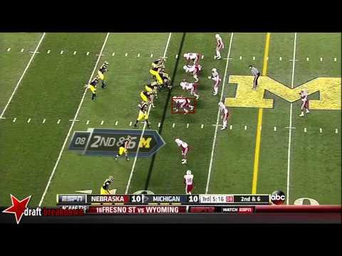 Randy Gregory vs Michigan 2013 video.