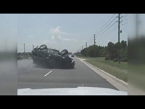 ΗΠΑ: Καταδίωξη αυτοκινήτου on camera!