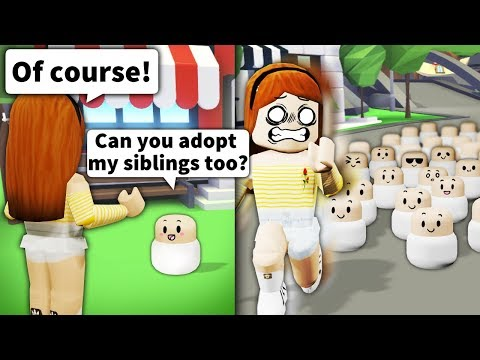"Asking Roblox mom ""Can you adopt my siblings?"" Then bringing 100+ PEOPLE"