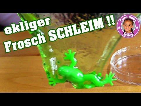 Ekliger FROSCH SCHLEIM mit Eiern im Test | Kaulquappen Slime | Spielzeug für Kinder