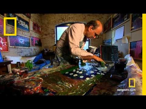 autistic - Taboo: Strange Behavior : SUN JUN 24 at 10p et/pt : http://channel.nationalgeographic.com/channel/taboo/ For Larry, painting is language — through his art, h...