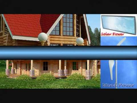 Solar Powered Home Project or Wind Powered Home Project Log Houses for sale