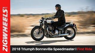3. 2018 Triumph Bonneville Speedmaster I First Ride I ZigWheels.com
