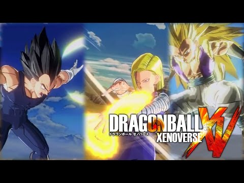 18 - New gameplay of Dragon Ball Xenoverse with combos and ultimate attacks of Super Saiyan 3 Gotenks, 18, and Vegeta! SSJ3 Gotenks ultimate is called Super Ghost Kamikaze Attack, 18's ultimate...