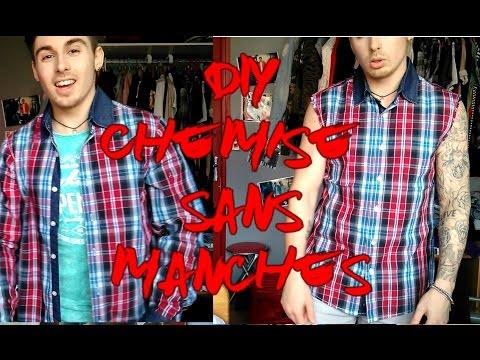 DIY sleeveless T shirt Chemise sans manches