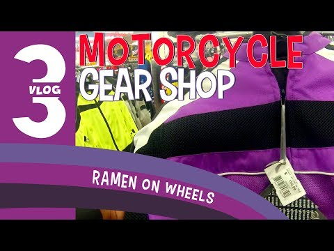 125cc Scooter Vlog 3: Visiting a Motorcycle Gear Shop