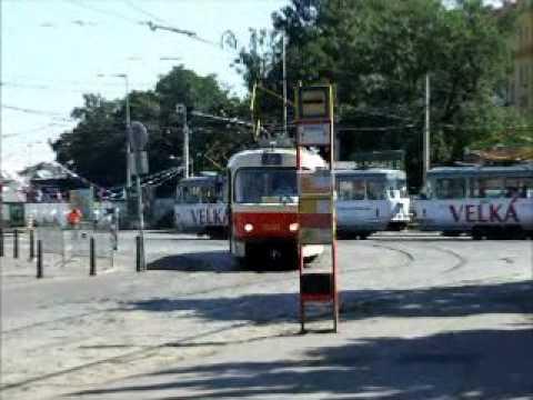 Prague (Praha, Prag) trams in 2009 - Straßenbahn - Tramvajová doprava v Praze - プラハ - Прага