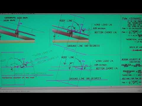 WIND LOADS & DEAD LOADS design of Roof Truss