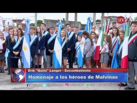 Homenaje a los héroes de Malvina