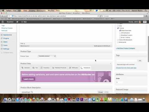 Woocommerce WordPress Tutorial – How to add products, variations, categories & tags.