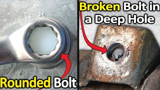 Video How to Remove a Rounded Bolt or a Broken Bolt in a deep hole MP3, 3GP, MP4, WEBM, AVI, FLV Juni 2019