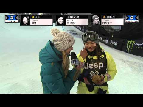 chloe kim 14 youngest x game winner ever wins gold in womens snowboard superpipe