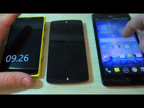 Video: Nokia Lumia 1020 vs Google Nexus 5 vs Acer Liquid S1