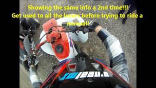 10. How to ride a Manual Quad or ATV (Honda 250ex & TRX400ex shown)