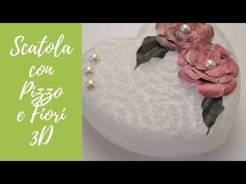 tutorial: decoupage con carta pizzo e fiori 3d
