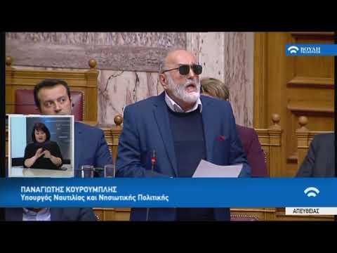 Π.Κουρουμπλής (Υπ.Ναυτιλίας Νησιωτ.Πολιτικής)(Συζ.για τη διενέργεια προκ/κής εξέτασης)(21/02/2018)
