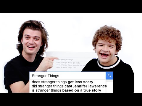 Stranger Things Cast Answer the Web s Most Searched