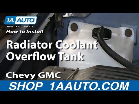 How To Install Radiator Coolant Overflow Tank 1994-98 Chevy GMC Tahoe Yukon Suburban