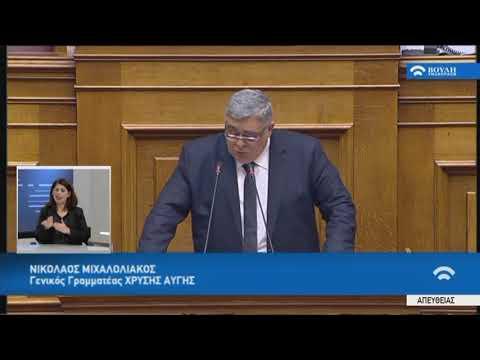 Ν.Μιχαλολιάκος(Γεν.Γρα.Χρυ.Αυγής)(Προσχώρηση Δημοκρατίας της Β.Μακεδονίας στο ΝΑΤΟ)(08/02/2019)