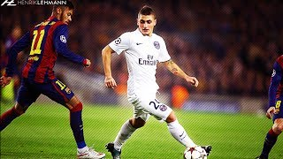 "Download the Onefootball app here: http://bit.do/HenrikLehmann_2The best skills, goals, assists, passes and tackles by Marco Verratti against FC Barcelona. Enjoy!Click ""Show more"" to see the music and more!● Edited and produced by: Henrik Lehmann    Twitter: https://twitter.com/henriklehmannn● Arabic speaking? Check out FCB World:    Twitter: https://twitter.com/FCBW_A7♫ Music: Wizard - So Bright● Clips from: Asem Pep, Full gamesThank you for watching! Please leave a like if you enjoyed and if you didn't, leave a dislike and tell me what I can do better. I'm always thankful for constructive critisism! Subscribe to my channel to watch my latest videos as they come out.""Copyright Disclaimer Under Section 107 of the Copyright Act 1976, allowance is made for ""fair use"" for purposes such as criticism, comment, news reporting, teaching, scholarship, and research. Fair use is a use permitted by copyright statute that might otherwise be infringing. Non-profit, educational or personal use tips the balance in favor of fair use."""