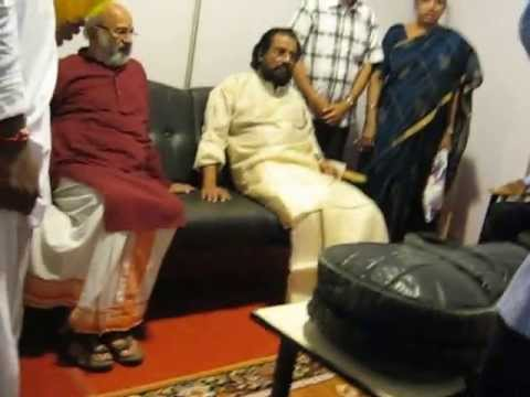 YESUDAS - RARE MOMENTS! - Legendary singer K J Yesudas waiting in the greenroom before his concert in Bangalore (INDIA). Recorded on May 13, 2013.