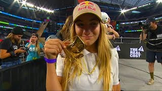 Zeuner won gold in the women's skateboard park category, beating out competitors almost twice her age.SUBSCRIBE to GMA ► https://www.youtube.com/channel/UCH1oRy1dINbMVp3UFWrKP0w/subscribeTo read the full story and others, visit http://www.goodmorningamerica.com Good Morning America (GMA) brings viewers an award-winning combination of breaking news, exclusive investigations, hard hitting interviews, weather forecasts, cutting edge medical field information, and financial reporting every morning. Join Robin Roberts, George Stephanopoulos, Lara Spencer, Michael Strahan, Amy Robach and Ginger Zee weekdays at 7am on ABC.Follow GMA across the web--Facebook: https://www.facebook.com/GoodMorningAmericaTwitter: https://twitter.com/GMA?ref_src=twsrc%5Egoogle%7Ctwcamp%5Eserp%7Ctwgr%5EauthorInstagram: https://instagram.com/goodmorningamerica/?hl=en