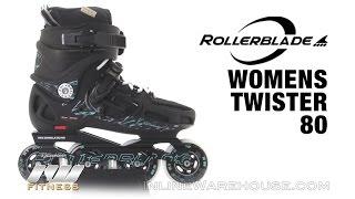 Відео огляд жіночих фріскейт роликів Rollerblade twister 80 w 2014 (англійською)