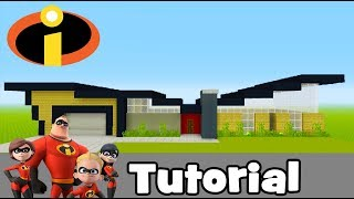 """Minecraft Tutorial: How To Make The Incredibles House """"Incredibles 2"""""""