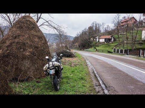 Motorcycle Trip around the Balkans. Beautiful Serbian Mountains - Part 7 (видео)