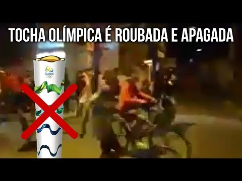 The olympic flame was stolen in Brazil
