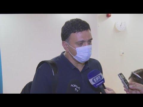 Ο  Βασίλης  Κικίλιας στο νοσοκομείο Ρεθύμνου