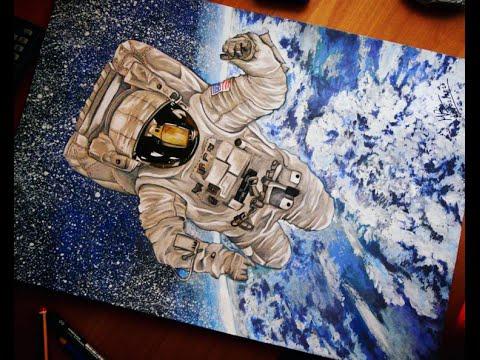 come disegnare un astronauta!