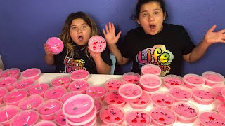 DIY SLIME VALENTINES FOR SCHOOL - MAKING 2 GALLONS OF FLUFFY SLIME FOR SCHOOL