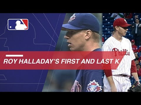 Video: A look at Halladay's first and last career strikeouts