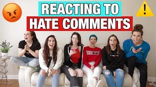 Video REACTING TO HATE COMMENTS MP3, 3GP, MP4, WEBM, AVI, FLV Juni 2018