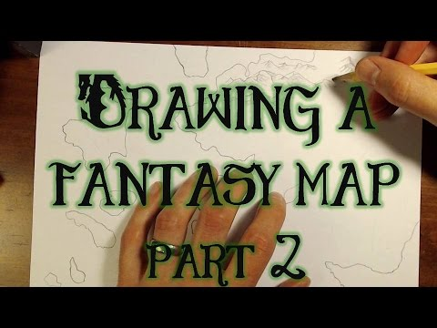 Drawing a Fantasy Map (part 2) - Mountains