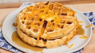 Cheddar Bacon Waffles by Tastemade
