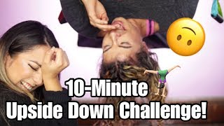 10-Minute Upside Down Makeup Challenge! Ft. @YouMeTrapeze | Trapeze | Smashbrush