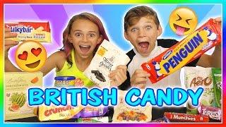 BRITISH CANDY TASTE TEST!   We Are The Davises