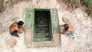 Video Dig To Build Bamboo House Underground & Two Swimming Pool (Full Video) MP3, 3GP, MP4, WEBM, AVI, FLV Juli 2019