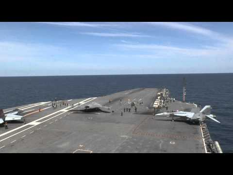 x - 130514N-SI489-001 The X-47B Unmanned Combat Air System demonstrator (UCAS-D) completed its first ever carrier-based catapult launch from USS George H.W. Bush...