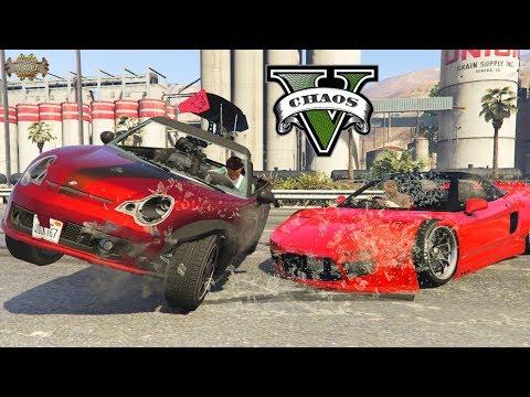 Slow Motion Car Crashes Pt. 8 GTA V