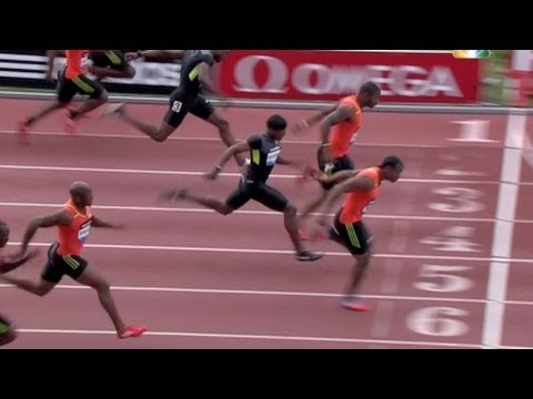 Yohan Blake wins Men's 100m at 2012 adidas Grand Prix