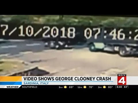 George Clooney Motorcycle Accident Video