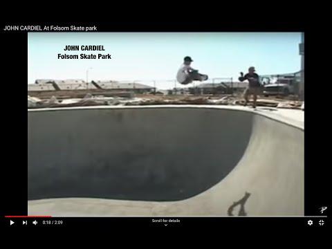 John Cardiel At Folsom Sk8 park