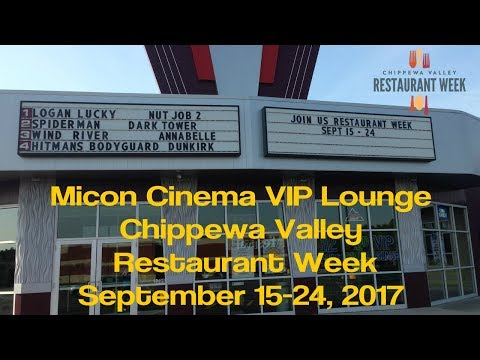 Micon Cinema VIP Lounge - Chippewa Valley Restaurant Week - Eau Claire WI - Sept 2017
