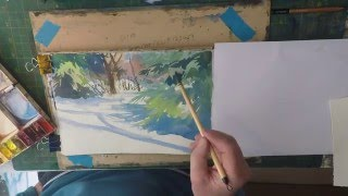 How To Paint Snow Beginners Watercolour