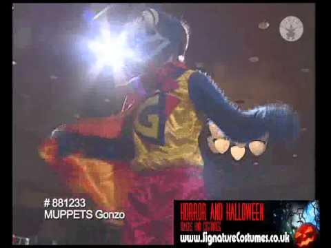 Gonzo Muppets Costume www.signaturecostumes.co.uk wmv