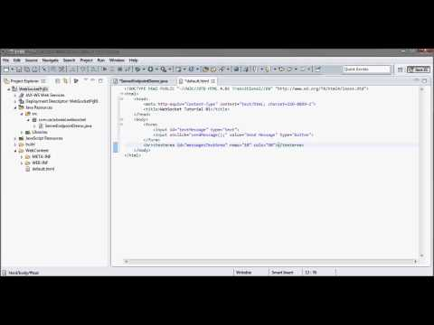 WebSocket (Tutorial 01 – Java Server + JavaScript Client + GlassFish 4.0 + JDK 1.7)